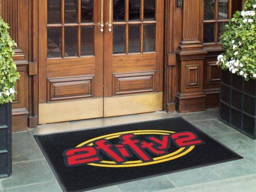 high traffic logo mat application
