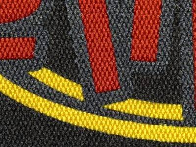 high traffic logo mat detail