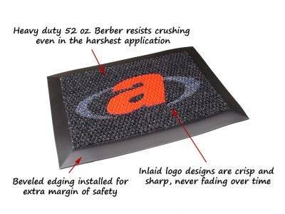 high traffic logo mat