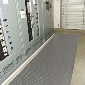 diamond plate switchboard safety mat