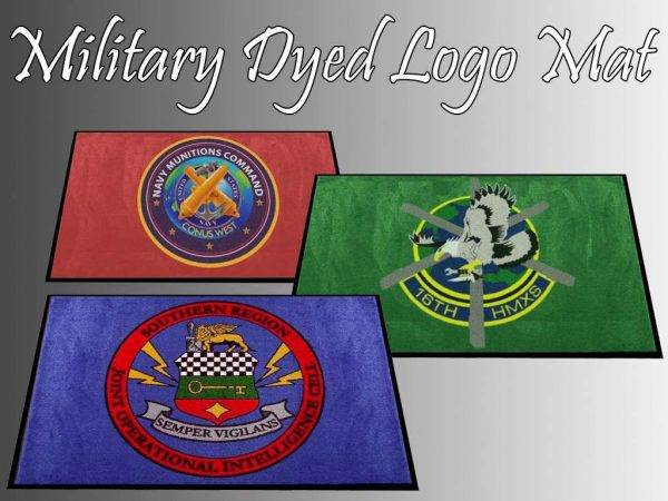 military dyed logo mat