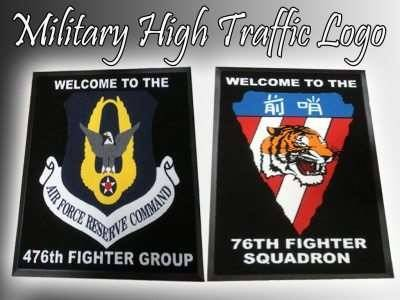 military high traffic logo mat
