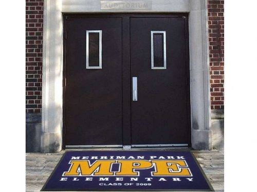 school spirit high traffic logo mat