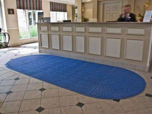 aquahog diamond double fan entrance mat application