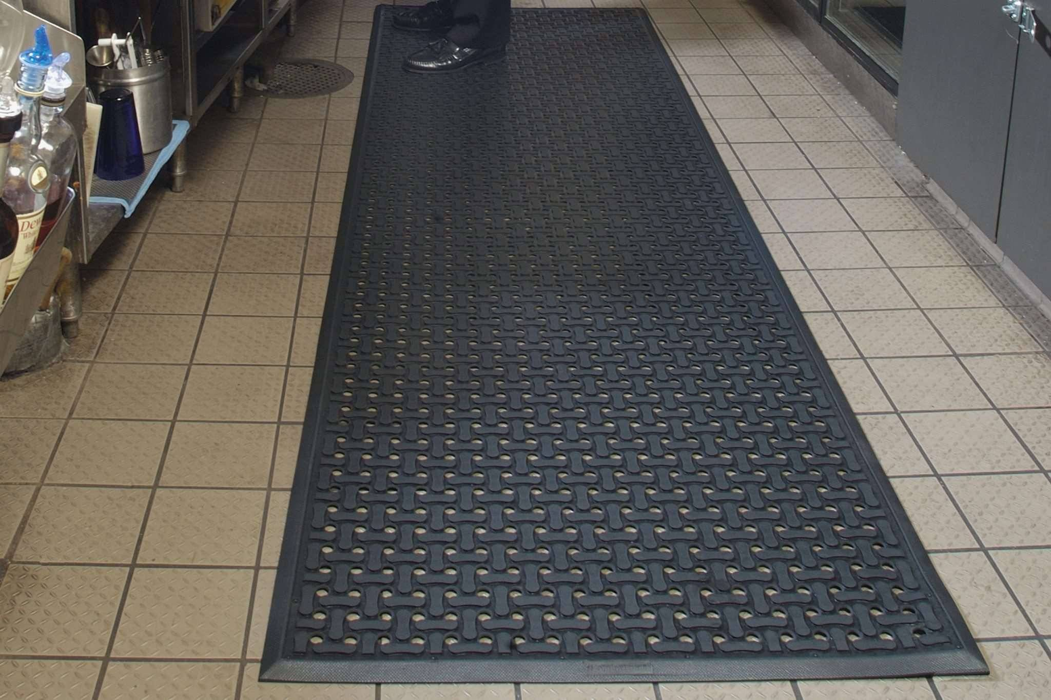 rubber american ideas kitchen flooring of are mats floor photo mercial drainage cheap