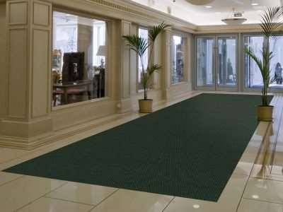 high traffic recessed entrance mat application