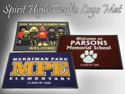 school spirit high traffic logo mat