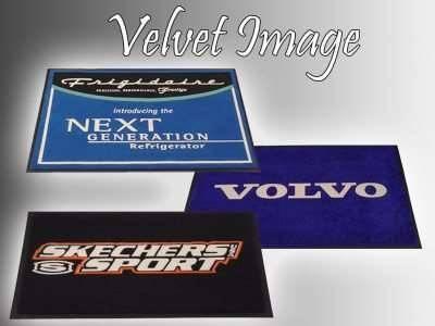 velvet image logo mats