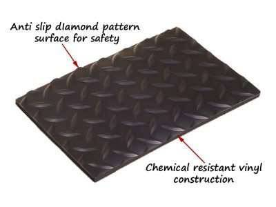 diamond plate runner safety mat