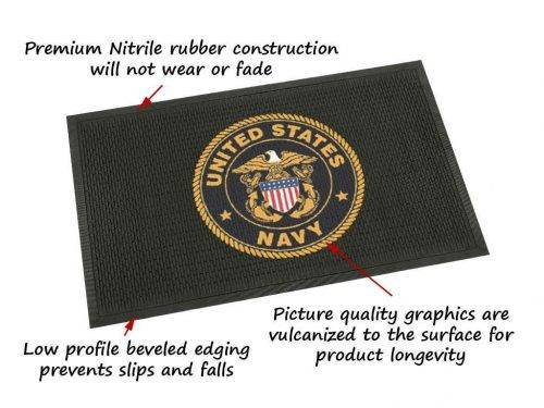 military outdoor logo mat