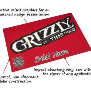 multi color vinyl logo mat