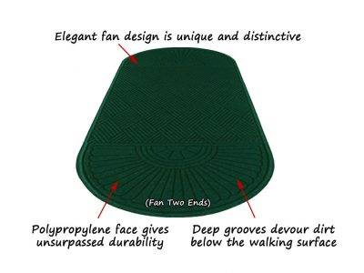 aquahog diamond double fan entrance mat