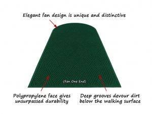 aquahog diamond single fan entrance mat