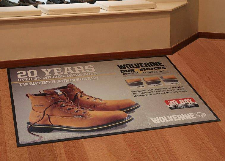 promotional custom logo media floor mat. POP mat