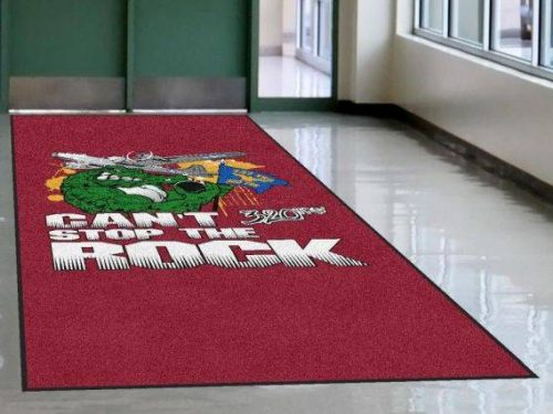 high definition logo mat