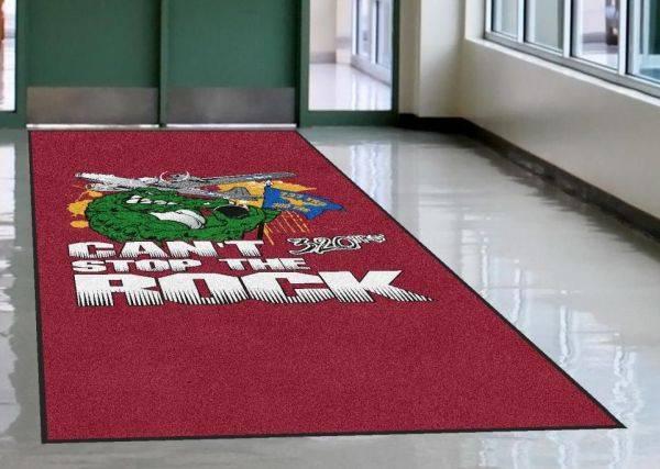 high definition logo mat